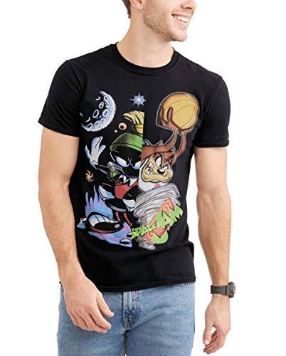 Looney Tunes Space Jam Tasmanian Devil Marvin The Martian Graphic T-Shirt, 2XL -