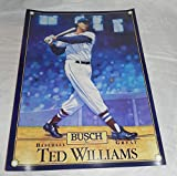 """Ted Williams Busch Beer Poster 15""""x20"""" Baseball Great Boston Red Sox 1988"""