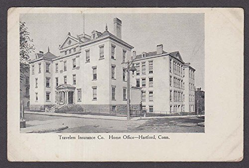 Travelers Insurance Co Home Office Hartford CT undivided back postcard 1900s