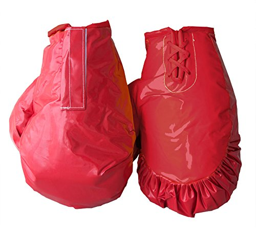 Giant Boxing Gloves for Bounce House Inflatables, Commercial Quality Low Density Foam and Double Stitched Vinyl, Replacement for Interactive Inflated Boxing Ring (Solid Red Pair)