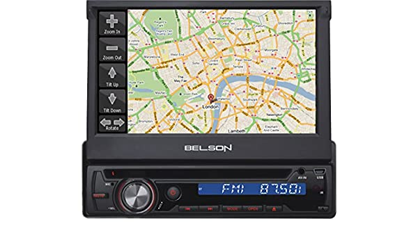 Belson BS-350GPS - Sistema multimedia 1-DIN in-dash con pantalla ...