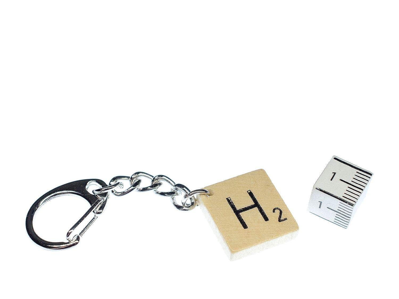 Miniblings llaveros Scrabble Remolque ABC Inititale Carta de ...