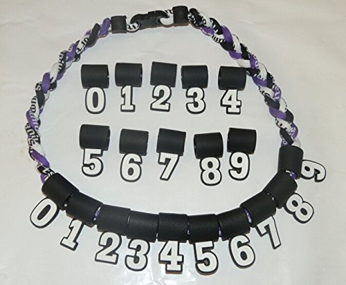Silicone Digital Number Pendant 0-9 for Baseball Softball Titanium Necklace Captain-accessories
