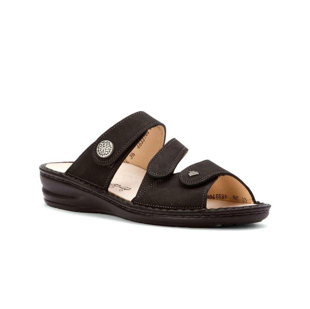 New Finn Comfort Women's Lazise Sandal Black Buggy UK 6.5