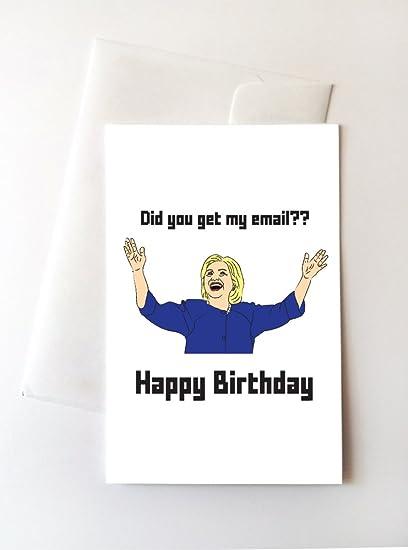 Amazon 2 Pack Hillary Clinton Birthday Cards 425x55 Inch