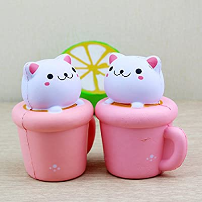 Primi Creative le stress Squishy Squeeze Cup Cat lent Rising Peluche