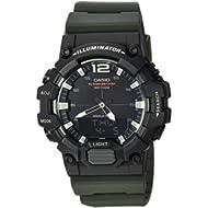 Men's 'Classic' Quartz Resin Casual Watch, Color:Green (Model: HDC-700-3AVCF)