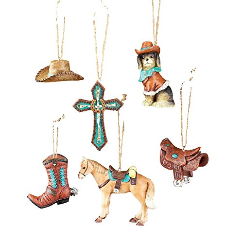 Western Christmas Tree Ornaments - Set of 6