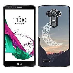 LECELL--Funda protectora / Cubierta / Piel For LG G4 -- luna cañón indio americano nativo --