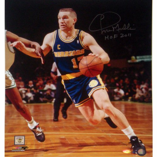 NBA Golden State Warriors Chris Mullin Drive to Basket Left Handed Vertical Photograph with HOF 2011 Inscription, 6x20-Inch by Steiner Sports