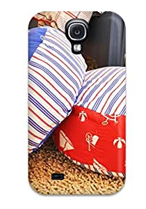 Alicia Russo Lilith's Shop Protective Tpu Case With Fashion Design For Galaxy S4 (boy8217s Red And Blue Nautical-themed Poufs) 2296272K14507487