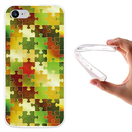 WoowCase Hülle Case für [ iPhone 7 ] Handy Cover Schutzhülle Puzzle