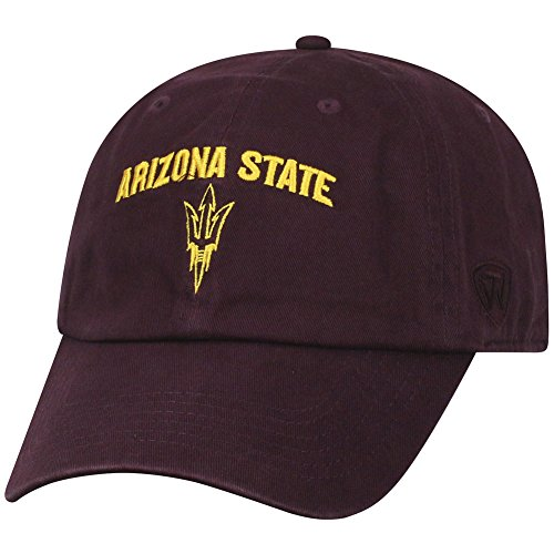 (Top of the World NCAA Arizona State Sun Devils Men's Adjustable Hat Relaxed Fit Team Arch,)