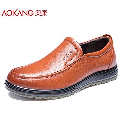 aemember a l' autunno dell' caso degli uomini scarpe casual scarpe comode messo piede a testa rotonda scarpe di uomini Brown, 39,