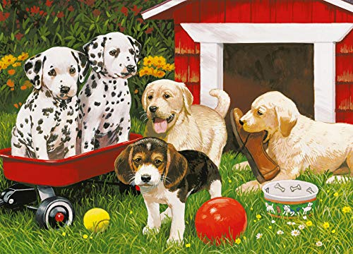 Ravensburger Puppy Party - 60 Piece Jigsaw Puzzle for Kids – Every Piece is Unique, Pieces Fit Together Perfectly by Ravensburger