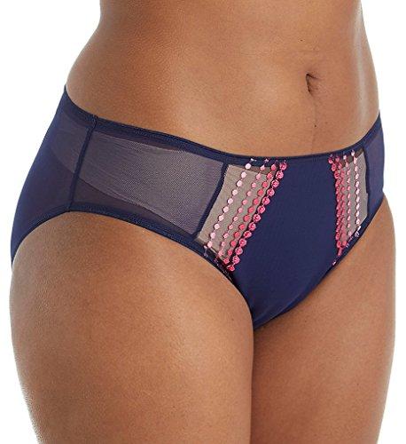 Elomi Women's Plus Size Matilda Brief, Navy, XXL