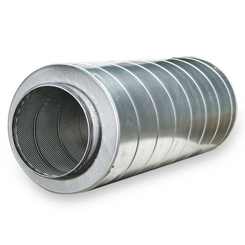 Galvanized Steel Silencer for 12'' Duct