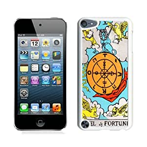 Excellent protection Tarot Fortune White Cover Case For iPod Touch 5