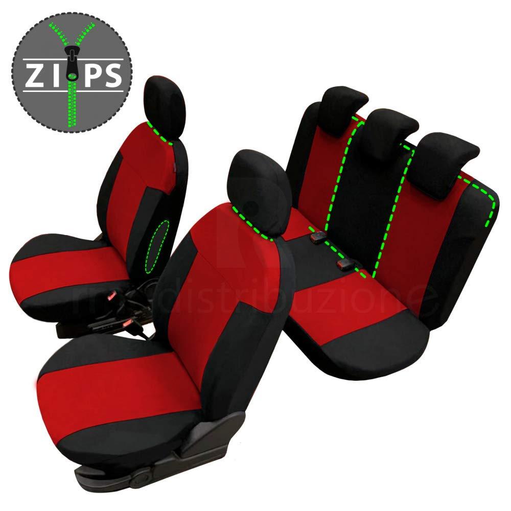 bracciolo Laterale compatibili con sedili con airbag 2004-2011 rmg-distribuzione Coprisedili per PICANTO Versione sedili Posteriori sdoppiabili R01S0365