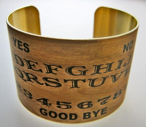 Ouija Board Brass Cuff Bracelet (Ouija Board Piece)