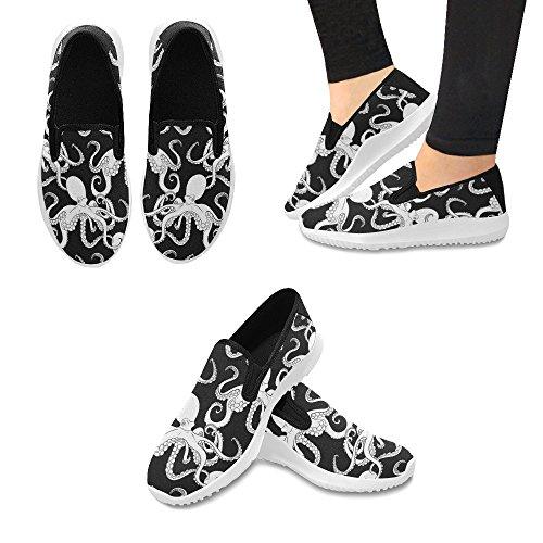 Slip Da Uomo Mocassino Slip On Sneakers Donna Canvas Multi Moda 1
