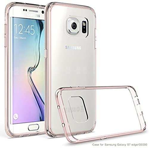 Galaxy S7 Edge Case, AOFU [Slim Hybrid] [Crystal Clear] Clear Back Panel + TPU Bumper for Samsung Galaxy S7 Edge-CrystalPink Sales