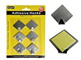 6PC Adhesive Hooks Size: 2'' x 1.75'' , Case of 96