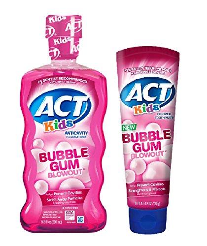ACT Bubblegum Blowout Mouthwash Toothpaste