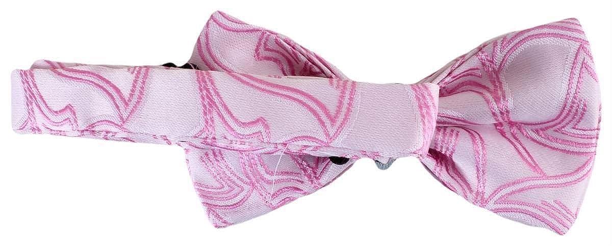Light Pink Knightsbridge Neckwear Mens Pattern Polyester Bow Tie