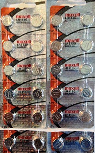 24 Fresh Maxell LR1130 (189) 1.5v Alkaline Batteries, New hologram packaging that guarantees authenticity