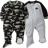 Gerber Baby Boys' 2-Pack Blanket Sleeper, Dino camo, 18 Months