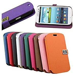 RC - Snowflake Grain Leather Full Body Case for Samsung Galaxy S3 I9300 , Purple