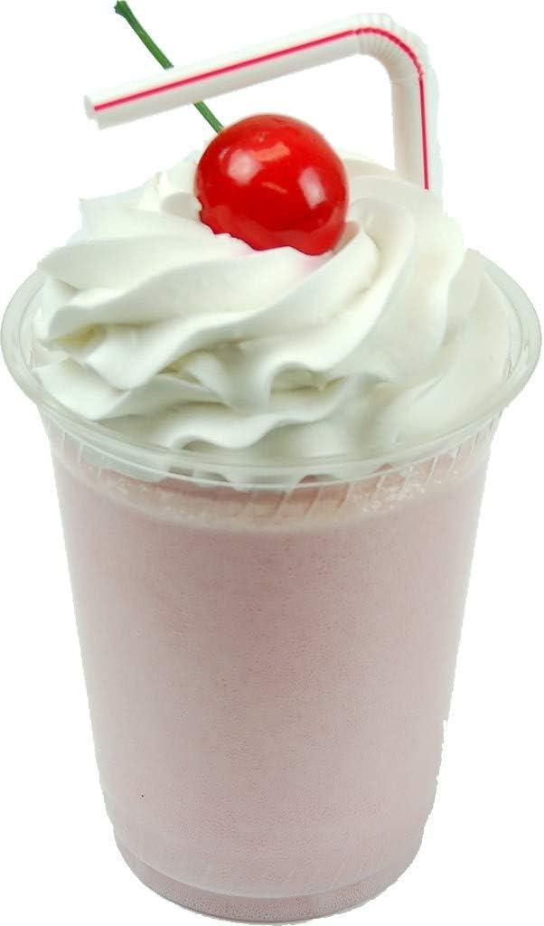 Flora-cal Products Strawberry Fake Food Milkshake Plastic Cup