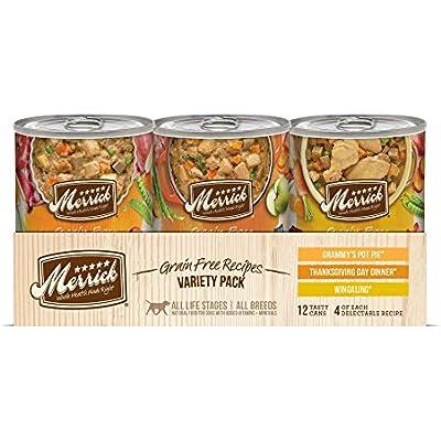 Merrick Grain Free Variety Pack Wet Dog Food, 12.7 Oz, Case Of 12