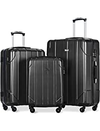 3 Piece P.E.T Luggage Set Eco-friendly Light Weight Spinner Suitcase