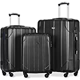 Merax Lightweight Luggage Set Hard Shell Spinner Suitcase Set 3pc Deal (Small Image)