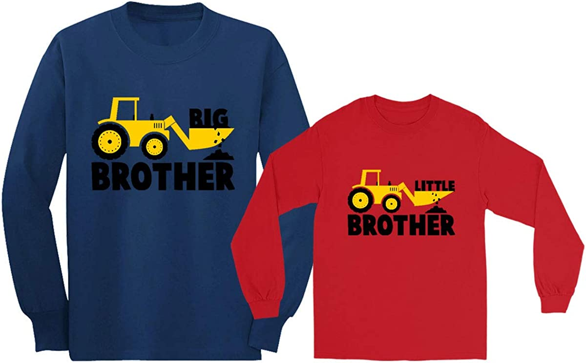 Camiseta Manga Larga 2 Piezas - Big Brother Little Brother Regalo para Hermanos