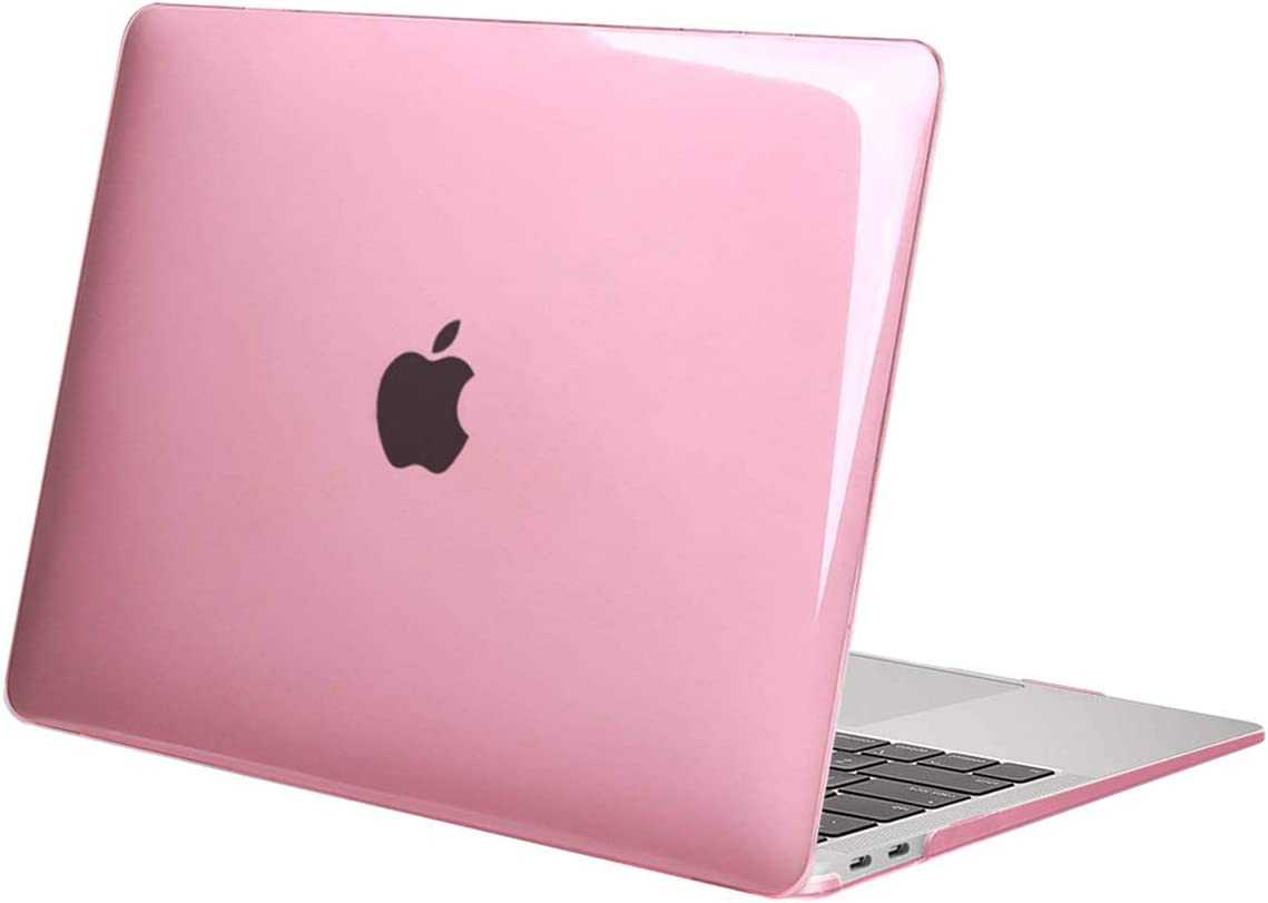 Plastic Hard Case Shell Cover Only Compatible with MacBook Air 13 Inch with Touch ID MOSISO MacBook Air 13 Case 2019 2018 Release A1932 with Retina Display Crystal Pink