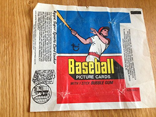 TOPPS 1977 BASEBALL BUBBLE GUM & TRADING CARD WRAPPER NICE GRADE Bubble Gum Trading Cards