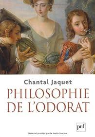 Philosophie de l'odorat par Chantal Jaquet