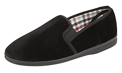 SIZE 12 new mens slippers strong lasting sole elasticated sides uk seller SALE