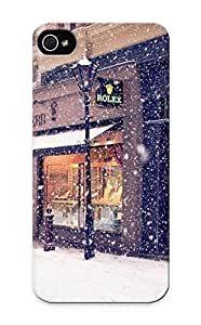 Anettewixom Iphone 5/5s Hybrid Tpu Case Cover Silicon Bumper Snowy Street