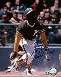 """Bill North Signed 8X10 Photo Autograph """"World Champs 73, 74"""" A's Auto w/COA"""