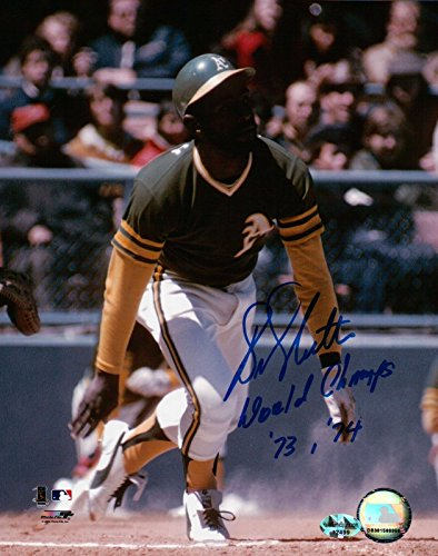 """Bill North Signed 8X10 Photo Autograph """"World Champs 73, 74"""" A's Auto w/COA from Cardboard Legends Online"""