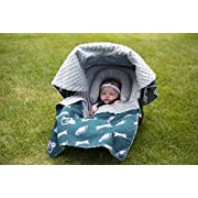 NFL Philadelphia Eagles The Whole Caboodle 5PC set - Baby Car Seat Canopy with matching accessories