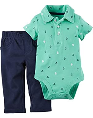 Carters 2/−pc Tugboat Overall Set