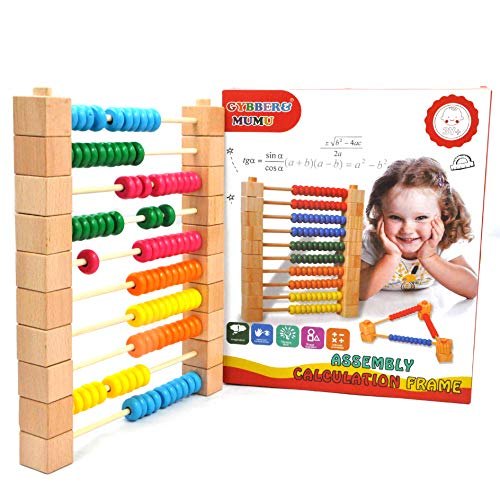 GYBBER&MUMU Detachable Abacus Educational Counting Toy with 100 Wooden Beads