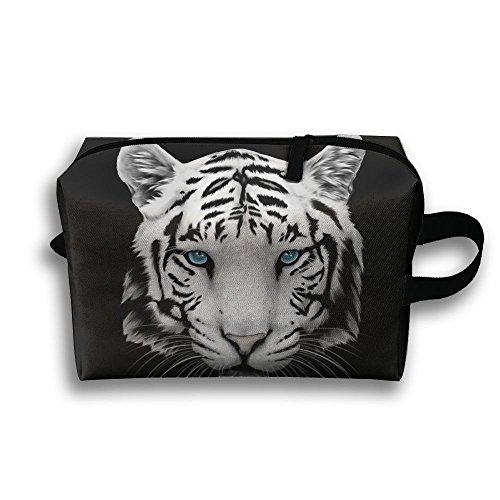Pouch Antibacterial (Tiger Animal Cosmetic Pouch Travel Cosmetic Pouch Bag Anti-bacterial Womens Travel Bag)