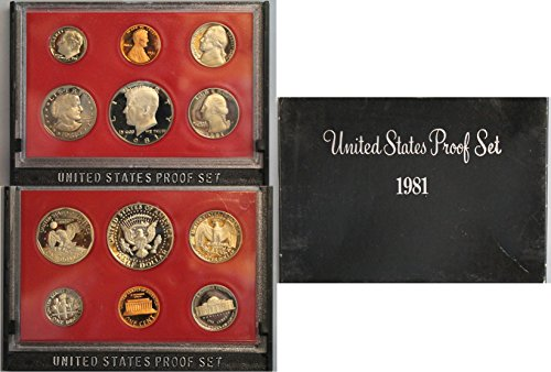 1981 S US Proof Set Original Government Packaging - Gold Washington Coin Set