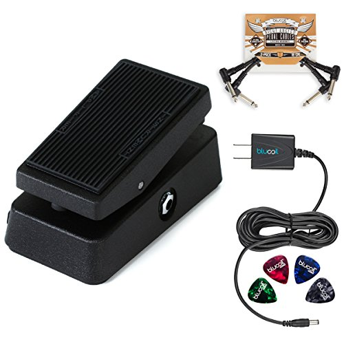 Clyde Mccoy Wah Pedal (Jim Dunlop CBM95 Cry Baby Mini Wah Pedal BUNDLED WITH Blucoil Power Supply Slim AC/DC Adapter for 9 Volt DC 670mA, 2 Pack of Blucoil Pedal Patch Cables AND 4 Celluloid Guitar Picks)